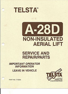 telsta bucket a 28d service and repair manual download link only, no 1995 gmc jimmy wiring-diagr…  2010 gmc sierra headlight wiring …