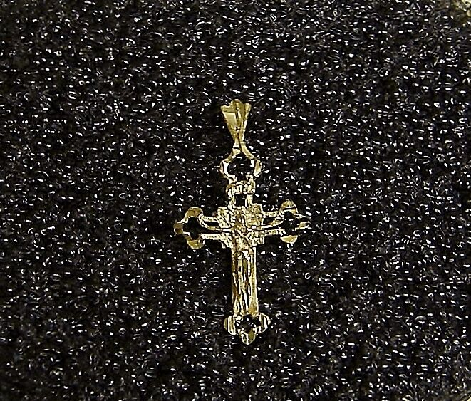 14k 14k 14k Croce Pendente in oro Giallo Ciondolo Adorabile e Distinto N411- H ea10a3