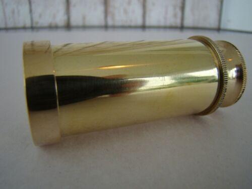 "4/"" Brass Telescope w// Wooden Box~ Nautical Spyglass ~ Monocular"