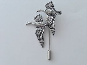 4d1a1998a93d0 B26 Geese english pewter Motif on a tie stick pin hat scarf collar ...