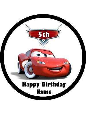 Lightning McQueen 19cm Edible Icing Image Birthday Cake Topper Party Decoration