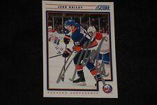 JOSH BAILEY 2012-13 PANINI SCORE SIGNED AUTOGRAPHED CARD #304 NEW YORK ISLANDERS