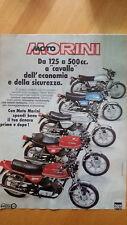 Pubblicità Advertising MOTO MORINI da 125 a 500 cc  anno 1978