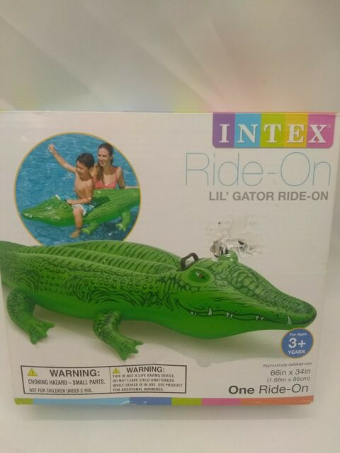Giant Gator Large Inflatable Crocodile Beach Lilo Ride On Swimming Pool Toy
