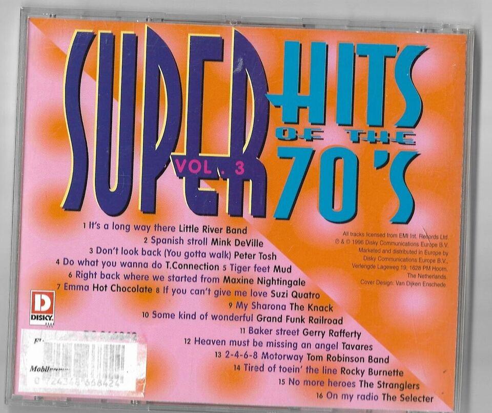 diverse kunstner: Super hits of the 70`s, pop