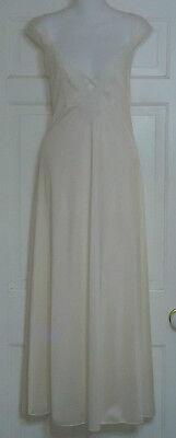 Vintage Sexy Barbizon Nylon Ivory Long Nightgown Wedding Night Extra Large Cream