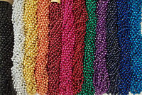 60 Mardi Gras Beads Party Favors Necklaces Round Metallic 12 Colors 5 Doz Choice