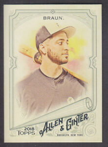 Topps-Allen-amp-Ginter-2018-Base-80-Ryan-Braun-Milwaukee-Brewers