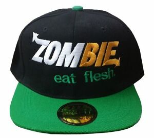 e02cdd47178 GREEN   ZOMBIE eat flesh   SUBWAY SANDWICH PARODY SPOOF Snap Back ...