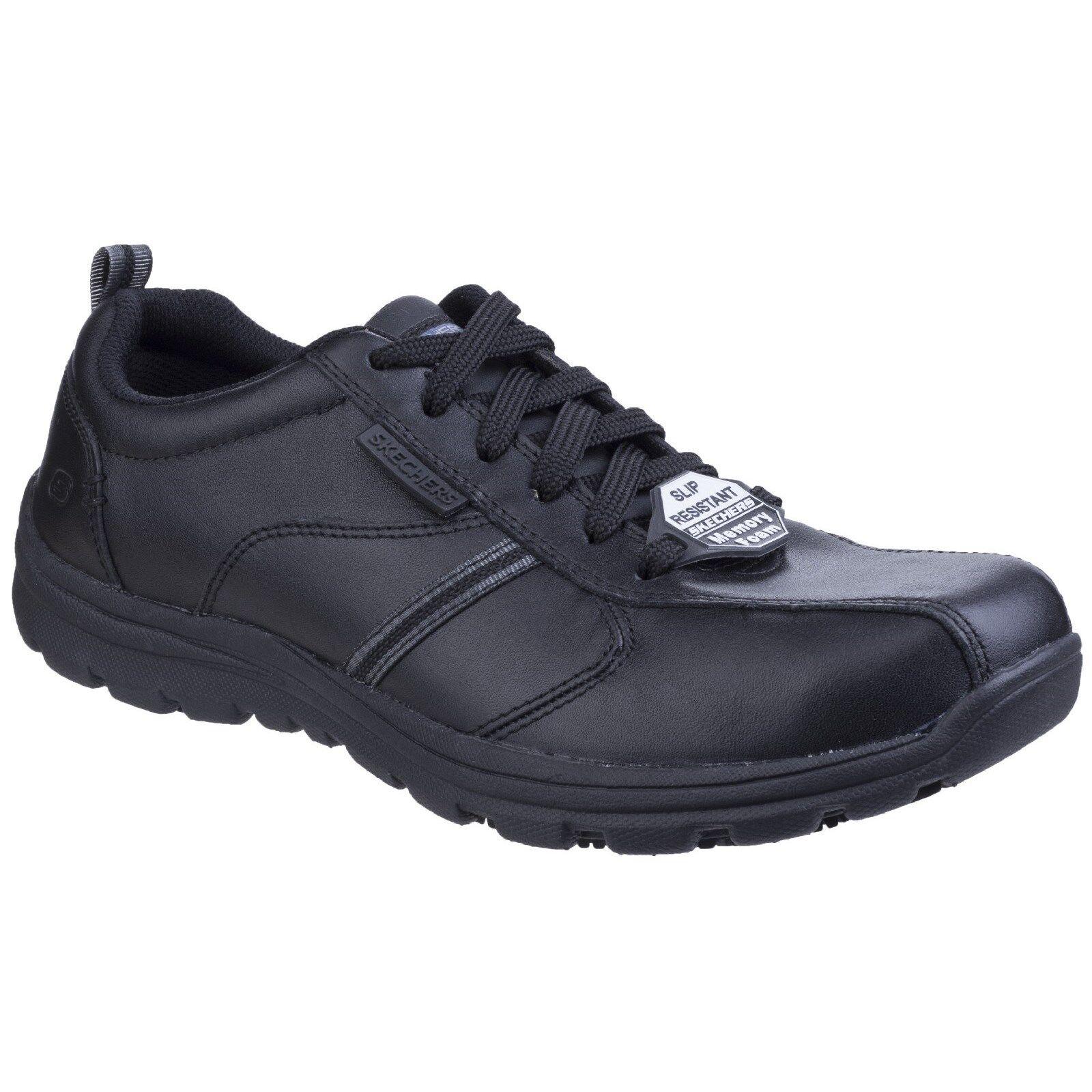 Skechers Hobbes confraternita LAVORO SCARPE MEMORY FOAM Pelle antiscivolo Sneaker Uomo In Pelle FOAM b2b675
