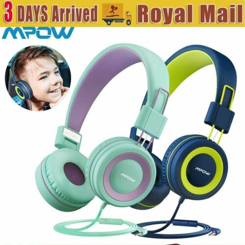 Mpow Kids Headphones Limiter Hearing 91dB Volume Comfortable Protection Foldable