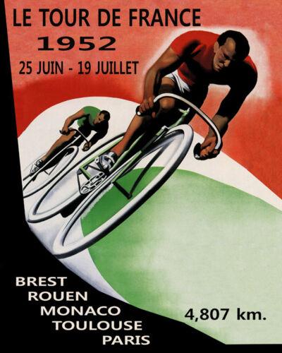 Tour de France Bicycle Race Monaco Paris Toulouse 16X20 Vintage Poster FREE S//H