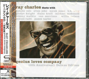 RAY-CHARLES-GENIUS-LOVES-COMPANY-10TH-ANNIVERSARY-EDITION-JAPAN-SHM-CD-F56