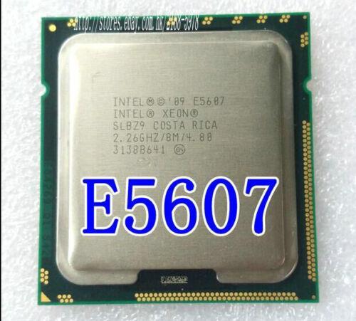 Match a pair(2)Intel Xeon E5607 SLBZ9 2.26 GHz 8M Cache 4.80GT//s Socket 1366 CPU