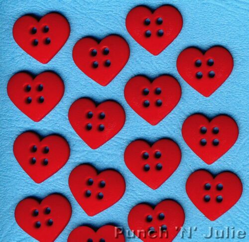 Love Christmas Novelty Dress It Up Sewing Craft Buttons SEW CUTE RED HEARTS
