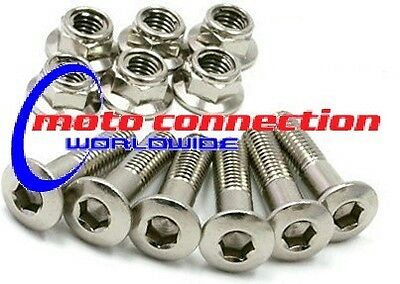 SPROCKET BOLTS & NUTS KIT SILVER - SUZUKI RM125 RM250 RMZ250 RMZ450 DRZ400