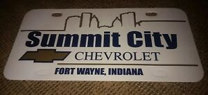 Chevy Dealer Fort Wayne >> Details About Vintage Chevrolet Chevy Dealership License Plate Summit City Fort Wayne Indiana