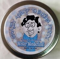 Christmas Winter Wonderland Holiday Crazy Aaron's Thinking Putty 2 Tin
