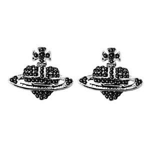 Luxury-Black-Rhinestones-Ufo-Cross-Orb-Stud-Earrings-Saturn-Heart-Cross-E1482