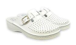 Leder Anatomishe Schuhe.Arzt/Haus Schuhe.Größe 37/38/39/41. Art. 631 Weiß