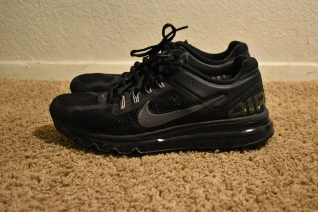 Nike Air Max+ 2013 Mens Black Athletic Shoes Size 9 554886 001
