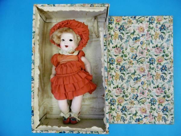 Vintage Giapponese Sakura Bisque  Bambola per Dormire Cofano 32 cm da F S  outlet online