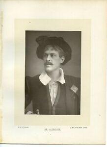 Vintage-Schrank-Karte-W-amp-D-Downey-Herr-George-Alexander-Englisch-Stage-Actor