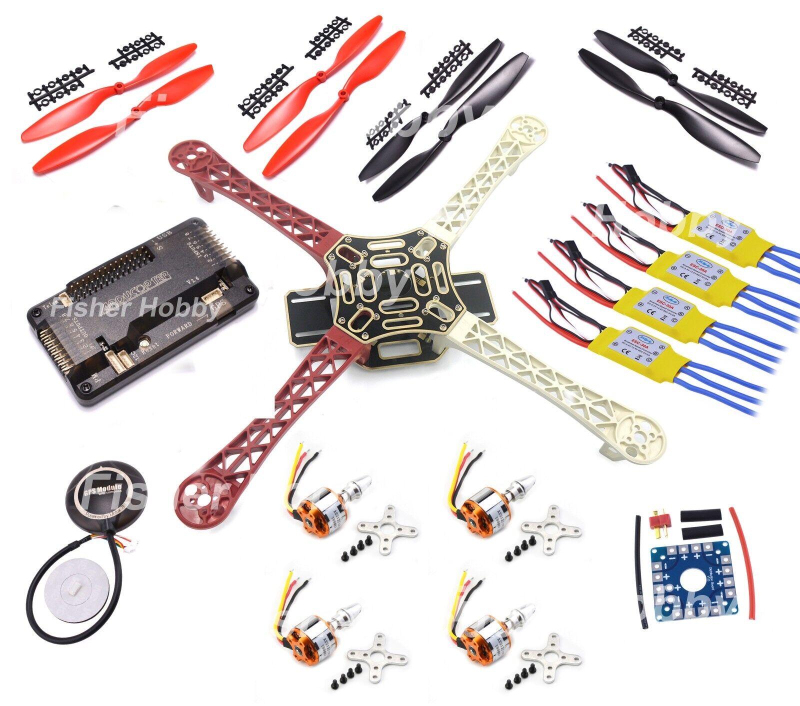 F450 Quadcopter Frame APM2.6 2212 1000kv motor 30A simonk ESC 7M GPS 1045 Prop