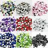 1000 Crystal Rhinestone Silver Flat Back Diamante Acrylic Gems 1 3 4 5 6 8 10mm