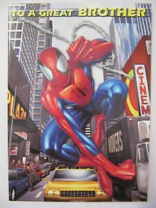 Fantastic Hang Time Spider Man To A Great Brother Birthday Greeting