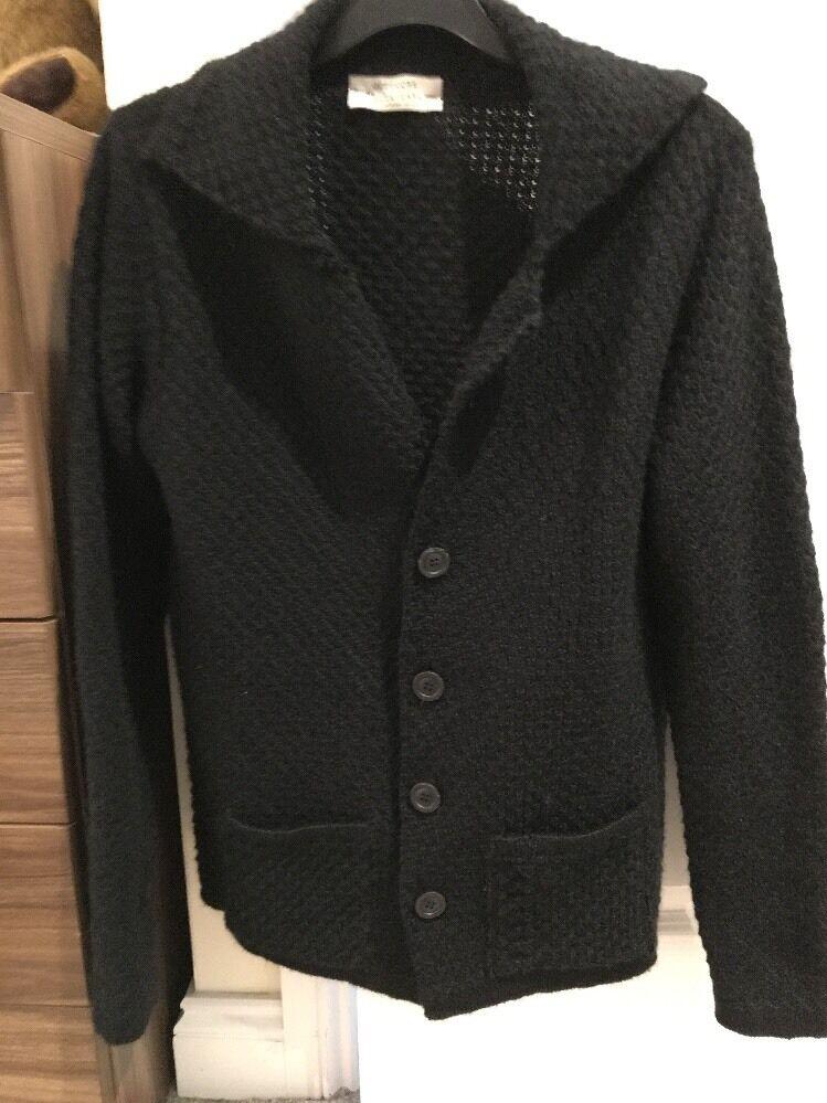 OFFICINE della lana uomo uomo uomo nero cardigan Taglia Large 2d999b