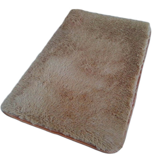 Fluffy Rugs Anti-Skid Area Rug Room Home Bedroom Carpet Square Floor Mat 40*40cm