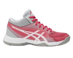 Asics-Gel-Task-Mt-Scarpe-Volley-Donna-Red-White-Grey-B753Y-1901