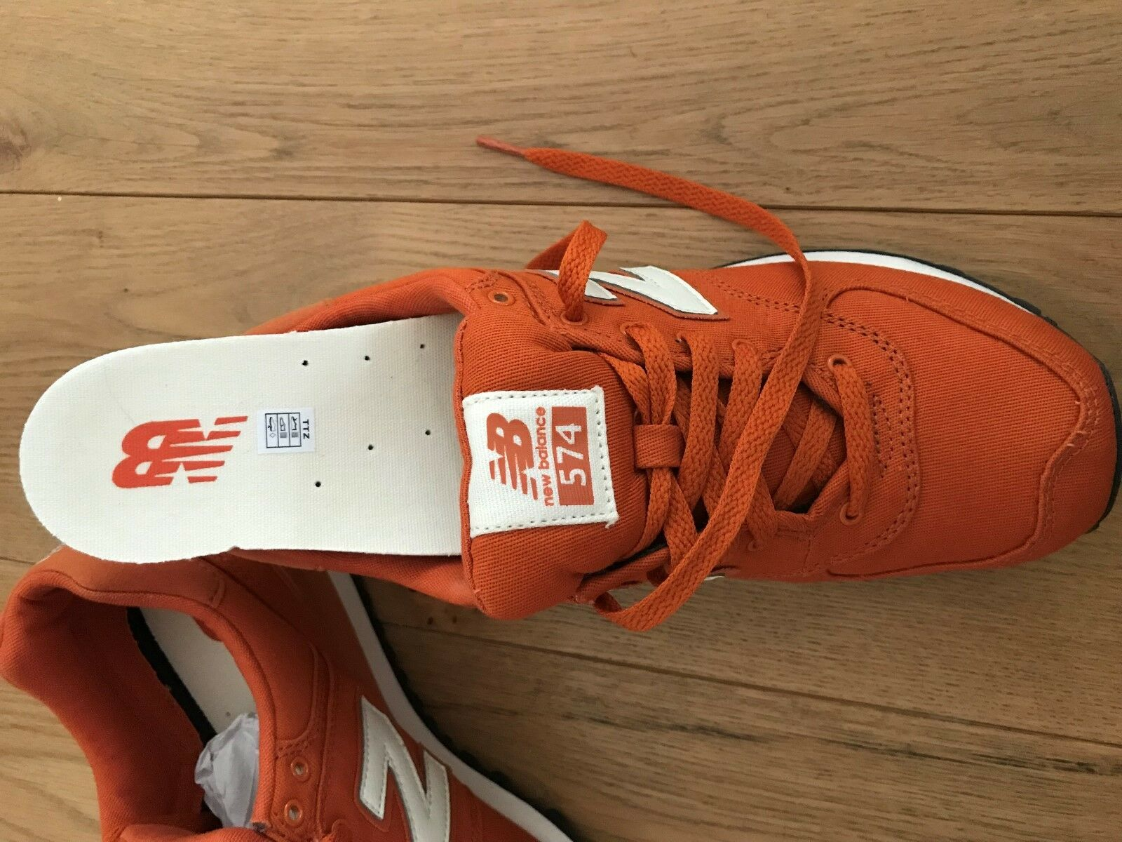 New balance Gr.40 Schuhe Sportschuhe Sportschuhe Sportschuhe Turnschuhe ornage weiß Canvas Baumwolle NEU d5c0b4