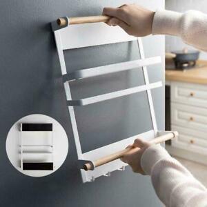 Kitchen-Refrigerator-Side-Storage-Holder-Magnetic-Organizer-Shelf-Rack-X4X9
