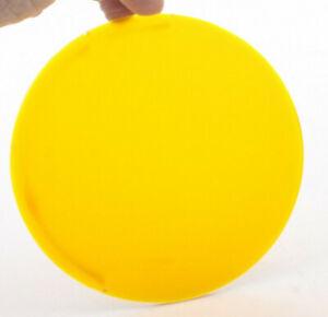 "Kodak #00 Yellow Amber 5 1/2""  Round for Photo Darkroom Process Glass USED F28E"