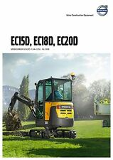 Volvo Construction EC15D 03 / 2015 catalogue brochure excavator Bagger pelle