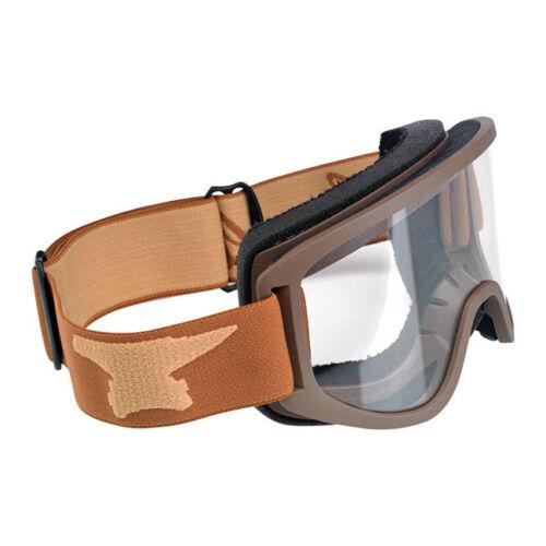 Moto Occhiali Chocolate per jethelme//anti zoccolo! Biltwell Moto Goggle 2.0