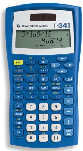 Texas Instruments TI-34 II Solar Batterie Schul Taschen Rechner Taschenrechner
