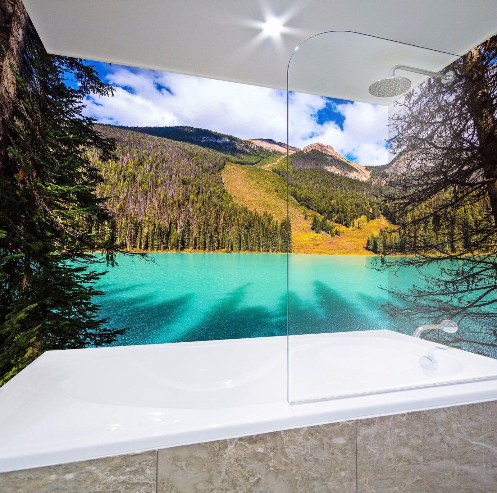 3D Grün River Tree 545 WallPaper Bathroom Print Decal Wall Deco AJ WALLPAPER AU