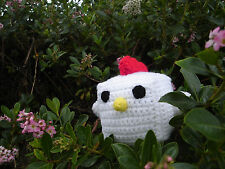 Baby Cock Block Plush ( Different Colors Available) - Crochet Chicken Amigurumi