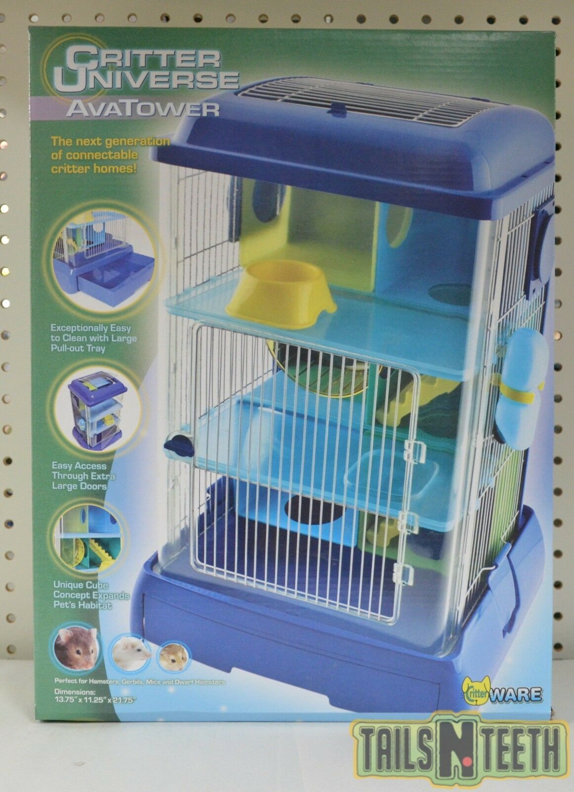 CritterWare Critter Universe AvaTower - Multi-Layer Home for Small Animals
