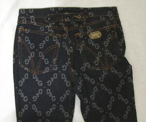 Dolce Boot Tilbage Lav D Gabbana 27 Jeans g 34 Cut Logo Rise Blå Cinch Signatur rArq8