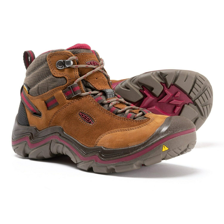 KEEN WOMENS 7-7.5-8-9-9.5 LAUREL MID WATERPROOF HIKING TRAIL SHOES BOOTS
