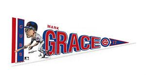 1990-Mark-Grace-Chicago-Cubs-7-034-decal-pennant-Salem-rare