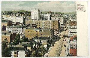 Huntingdon Building Los Angeles California CA Birds Eye View Vintage Postcard