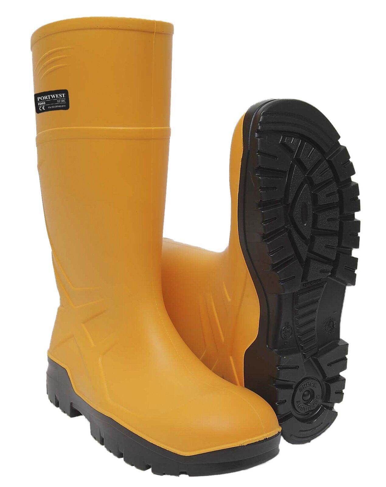 Portwest PU Safety Wellington S5 CI FO Waterproof Cold Insulation Snow Rain FD95