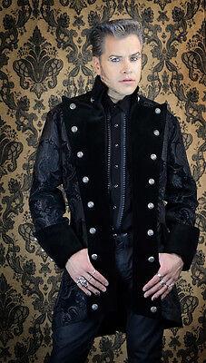 SHRINE GOTHIC VAMPIRE GOTH VICTORIAN UNDERWORLD PIRAT COAT JACKET BLACK RARE