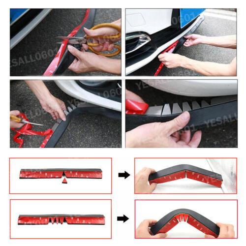 """Red Car Bumper Lip Splitter Body Spoiler Skirt Valance Chin Protector 100/"""""""