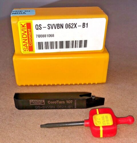 SANDVIK QS SVVBN 062X B1 COROTURN INSERT TOOL HOLDER QTY 1